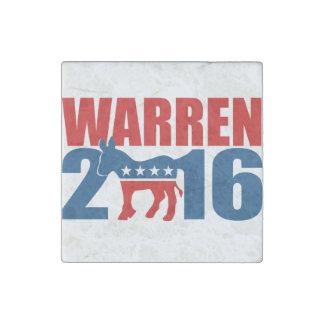 DEMOCRAT WARREN 2016 STONE MAGNET