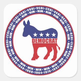 Democrat Winning Years Square Sticker