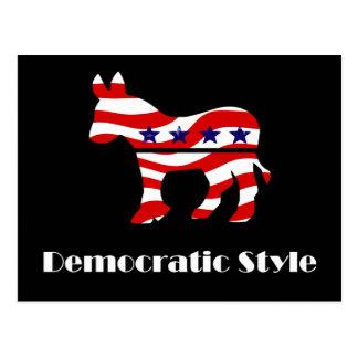 Democrat with Style Postcard