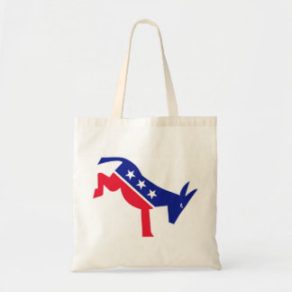 Democrate Donkey Red White and Blue Budget Tote Bag