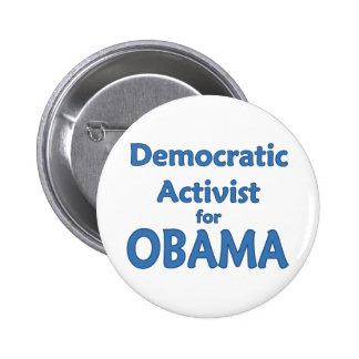 Democratic Activist for Obama 6 Cm Round Badge