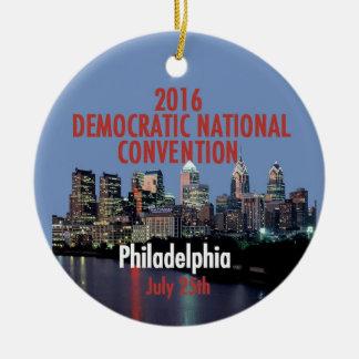 Democratic Convention Round Ceramic Decoration