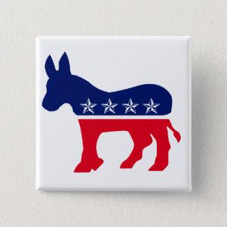 Democratic Donkey 15 Cm Square Badge