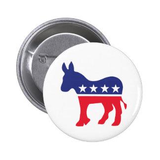 Democratic Donkey American Politics 6 Cm Round Badge