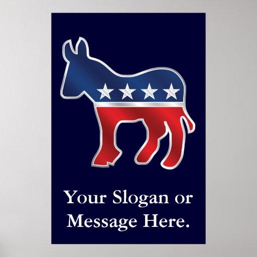 Democratic Donkey Custom Poster