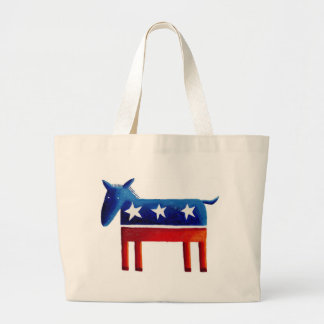 Democratic Donkey Large Tote Bag