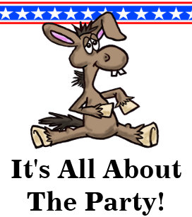 Democratic Donkey Political Birthday Card