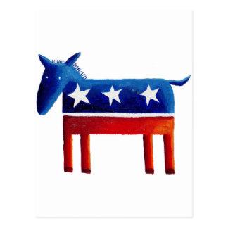 Democratic Donkey Postcard