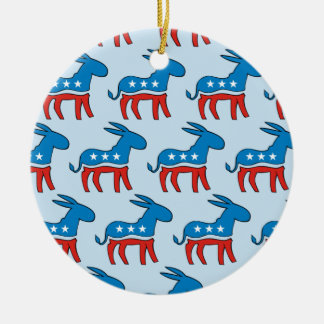 Democratic Donkeys Christmas Ornament