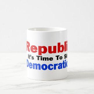 Democratic Lies Basic White Mug
