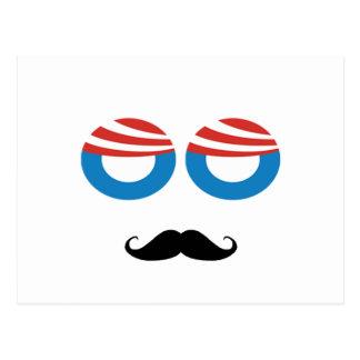 Democratic Man - Mustache You A Question Postcard