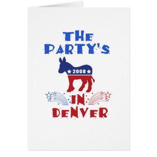 Democratic National Convention 2008 Denver Colorad Greeting Card