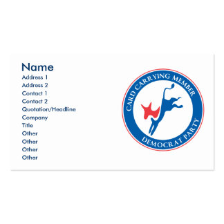 Democratic Party Business Card