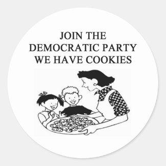democratic party design stickers