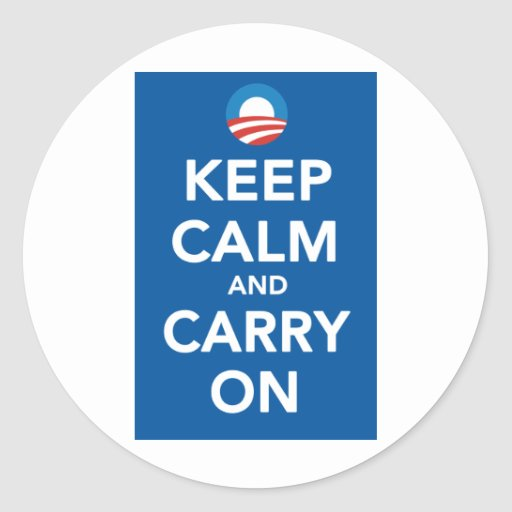Democratic Party Keep Calm Poster Sticker