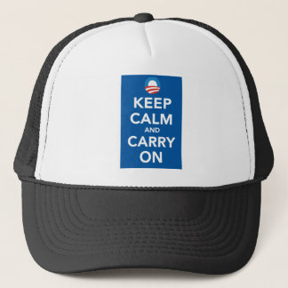 Democratic Party Keep Calm Poster Trucker Hat