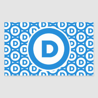 Democratic Party Logo Rectangular Sticker