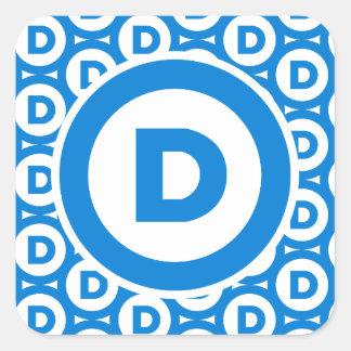 Democratic Party Logo Square Sticker