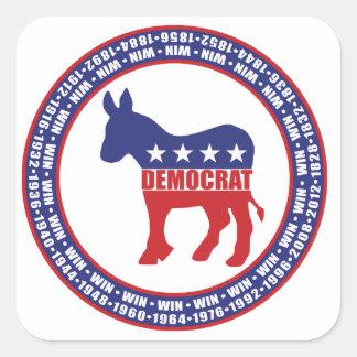 Democratic Party Wins Square Sticker