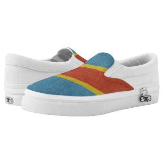 Democratic Republic of Congo Flag Slip-On Shoes