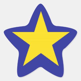 Democratic Republic of Congo Flag Star Stickers