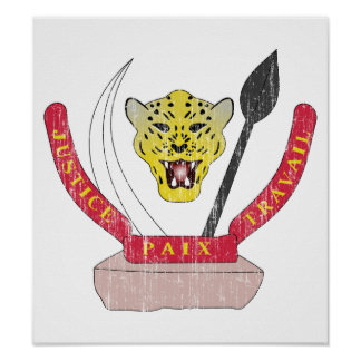 Democratic Republic Of The Congo Coat Of Arms Print