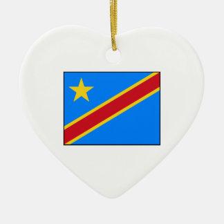 Democratic Republic of the Congo Flag Christmas Ornament