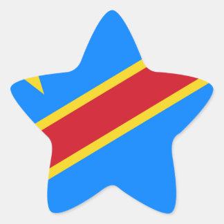 Democratic Republic Of The Congo Flag Star Sticker