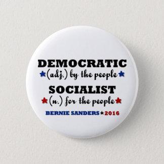 Democratic Socialist Bernie Sanders 6 Cm Round Badge