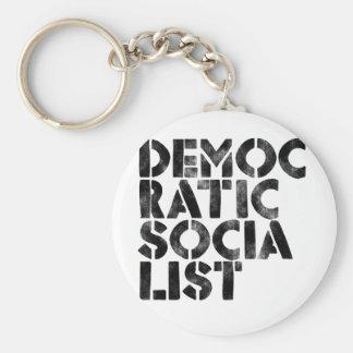 Democratic Socialist Basic Round Button Key Ring