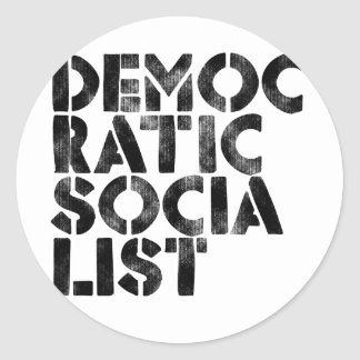 Democratic Socialist Round Sticker
