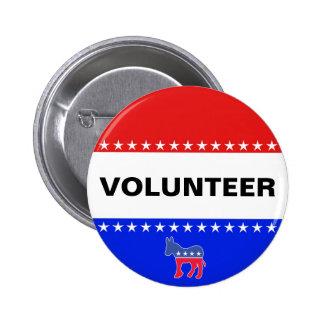 Democratic Volunteer 6 Cm Round Badge