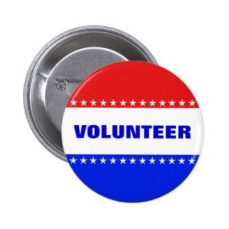 Democratic Volunteer Button