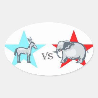 Democratic VS Republican Sticker