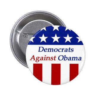 Democrats Against Obama 6 Cm Round Badge