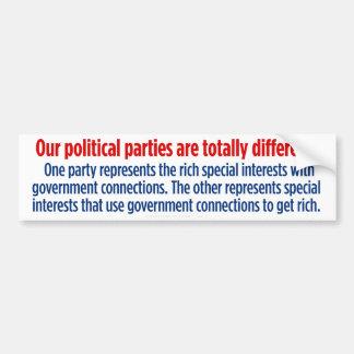 Democrats and Republicans In A Nutshell Bumper Sticker