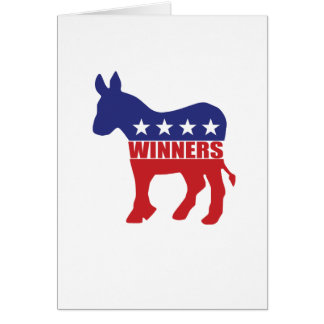 Democrats are winners greeting card