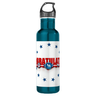 Democrats Drinking Politically Correct! 24oz Water Bottle
