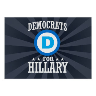 DEMOCRATS FOR HILLARY POSTER