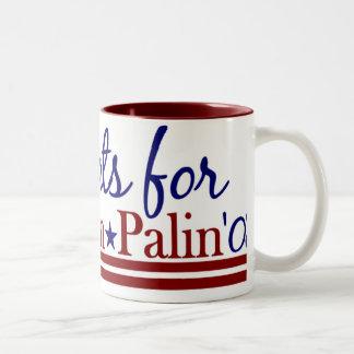Democrats for McCain Palin Two-Tone Coffee Mug