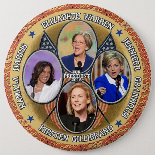 Democrats for President in 2016 6 Cm Round Badge