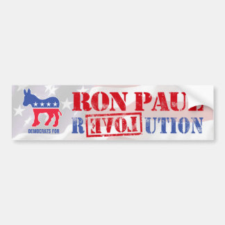 Democrats for Ron Paul Bumper Sticker
