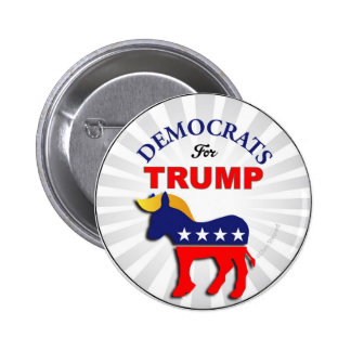 DEMOCRATS for TRUMP TRUMPOCRATS Switch Parties Now 6 Cm Round Badge