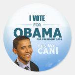 Democrats Gear Barack Obama Classic Round Sticker