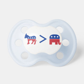 Democrats Greater Than Republicans Infant Pacifier