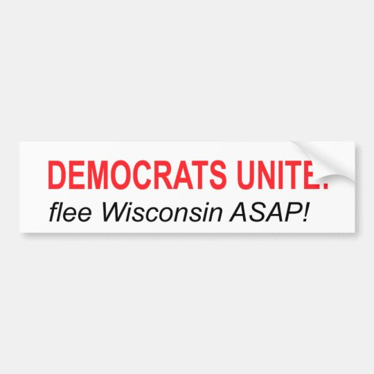 Democrats Unite: Flee! Bumper Sticker
