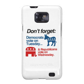 DEMOCRATS VOTE ON TUESDAY REPUBLICANS VOTE ON WEDN SAMSUNG GALAXY S2 COVER