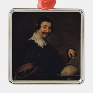 Democritus, or The Man with a Globe Christmas Ornament
