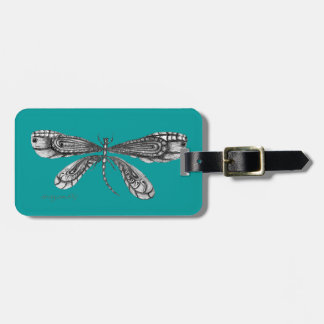 'Demoiselle'  is a dragonfly Luggage Tag