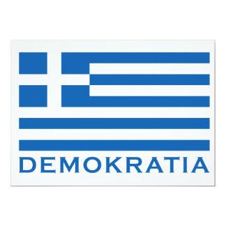 Demokratia 13 Cm X 18 Cm Invitation Card